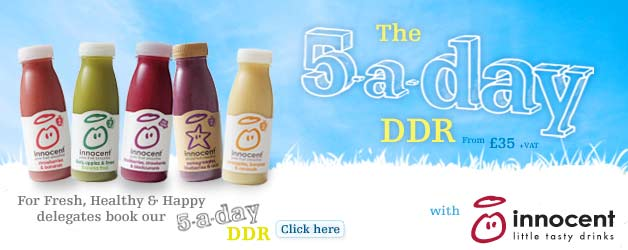 new work - 5-a-day ddr with innocent smoothies